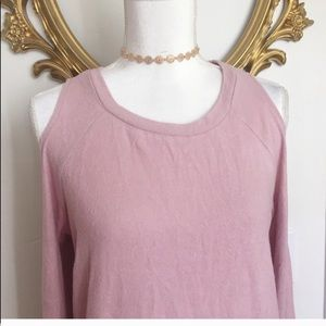 Hippie Rose Tops - NWT Hippie Rose Cold-Shoulder Cozy Sweater Size L
